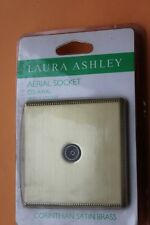 Laura Ashley TV Aerial Single Socket Co Axial Outlet Corinthian Satin Brass
