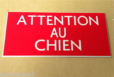 plaque gravée ATTENTION AU CHIEN (10 versions)  petit format