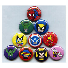 "MARVEL TOKIDOKI 1"" PINS / BUTTONS (avengers frenzies toys set blind)"