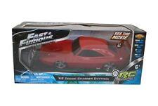 FAST & FURIOUS R/C RADIO REMOTE CONTROL CAR 1969 DODGE DAYTONA 1/24 RED