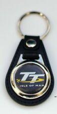 Moto Guzzi Red Key Ring Fob Belt Hook Cream Silver Face