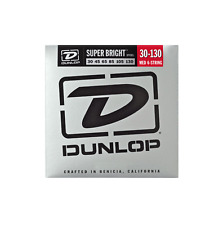 Jim Dunlop DBSBS 30130 Medium 6 corde super luminosi in acciaio Bass Corde 30-130