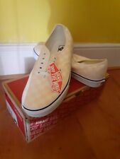 Vans Authentic Checkerboard Trainers Apricot Brand New Skate 9UK/43EU BOX FRESH