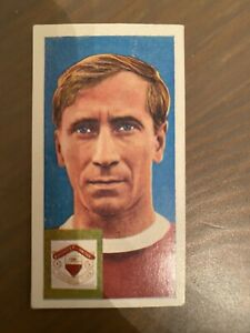 BOBBY CHARLTON ROOKIE CARD 1963 CADET SWEETS LTD FOOTBALLERS & CLUB COLOURS