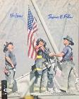 Thomas E. Franklin Signed 11x14 Firefighters Raising Flag 9/11 Photo BAS