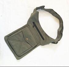 Khaki Utility Party Festival Bum Bag Waist Money Belt Travel Bag
