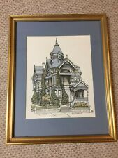 """DEBBIE PATRICK """"HAAS LILIENTHAL HOUSE"""" SIGNED WATERCOLOR LITHOGRAPH"""
