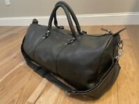 New Genuine Men Leather Duffle Bag Cowboy luggage gym sport old style