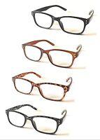 L106 Stylish Plastic Frame Reading Glasses/Classic&Retro Design/Extra Value Pack