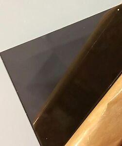 """Dark Gray Smoke Transparent Acrylic Plexiglass #2074 - 1/8"""" - 24"""" x 48"""" -"""