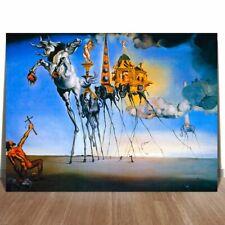 "SALVADOR DALI TEMPTATION OF SAINT ANTHONY CANVAS PRINT SURREAL ART 24x18"""