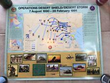 "Vintage Operation Desert Shield / Storm 1990-91 Poster 24"" X 30"""