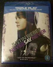Justin Bieber Never Say Never Blu-Ray  brand new but not sealed