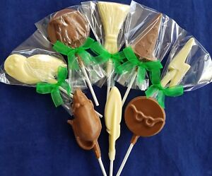 HARRY POTTER CHOCOLATE LOLLIPOPS/FAVOURS/SWEETS/PARTY BAG FILLERS/PRESENT/GIFT