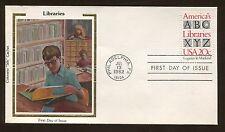Silk Cachet America's Libraries ABC XYZ 1982 Philadelphia FDC US Stamp #2015