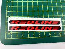 old school bmx decals stickers redline proline crank (not flight) black red