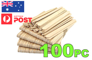 100 X WOODEN CRAFT STICKS*** PADDLE POP POPSICLE Coffee Stirrers Ice Cream