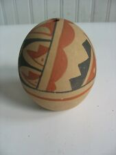 "Pueblo Native American Indian Seed pottery pot jar 3"" traditional colors"