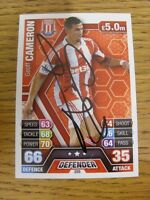 2013/2014 Autograph: Stoke City - Cameron, Geoff [Hand Signed 'Topps Match Attax