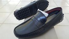 Lacoste Concours 14 Men's Casual Moccasins Leather Loafer Shoes US9/EUR42 Blue