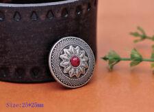"Dual Cactus Flower Antique Patina Screwback Concho 1/"" 4663-90"