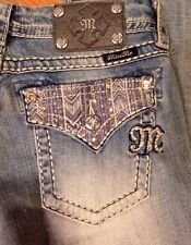 Miss Me Cropped Jeans Signature Denim Jeans NWT Size 28 $95