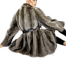 S-M WASCHBÄR PELZJACKE PELZ raccoon fur jacket Jacke Vintage Pelz L raton laveur