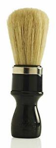 Omega 10098 98 Pure Bristle Shaving Brush - Black Handle