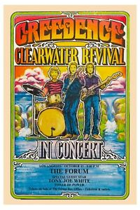 John Fogerty & Creedence Clearwater Revival  L.A. Concert Poster 1970  12x18