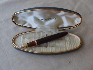 SHEAFFER CREST brown barrel, fountain pen