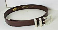 "34"" Not 32"" Silver and Brown Men's Leather Belt Canyon Outback Western Fancy"