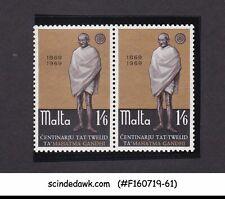 MALTA - 1969 BIRTH CENTENARY OF MAHATMA GANDHI 2V PAIR MNH