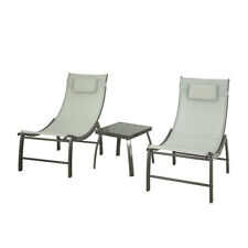 SoBuy 3 Pieces Patio Garden Furniture Set 2 Chairs & Table Beige,OGS37-HG,UK