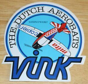 VINK Dutch Aerobatics Team Sticker