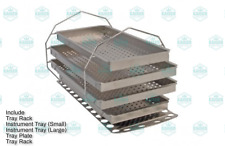 Autoclave Rack and Tray Kit MIK209 for Midmark Ritter M11 - Stainless Steel