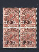 Algeria 1944 Sc# 187 Mosque French colony surcharged block 4 MNH