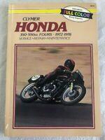 Clymer Honda 350-550cc 1972-78 Service Repair Maintenance Manual *Very clean*