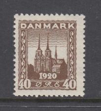 Denmark Sc 158 Roskilde Cathedral 40o Dark Brown VF Mint Light Hinged