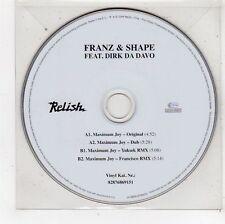 (FU617) Franz & Shape ft Dirk Da Davo, Maximum Joy - 2006 DJ CD