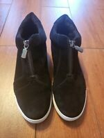Blondo Glenda Black Suede wedge Fashion Sneaker Size 8.5