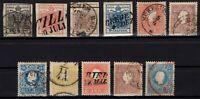 P126350/ AUSTRIA – 1850 / 1859 USED CLASSIC LOT CV 300 $