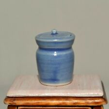 Dollhouse Miniature Jar with Lid 1:12 Ceramic Porcelain