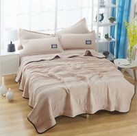 thin summer quilt air conditioning bed cover washing cotton queen king size soft