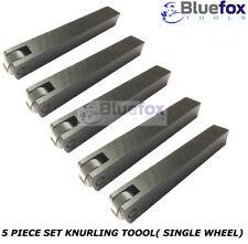 "5 Pcs Set 3/4"" Knurling Tool Single Wheel 19mm Shank Knurl Pattern"