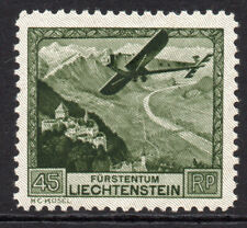 Liechtenstein 45Rp Air Mail Stamp c1930 Mounted Mint (tiny gum tone) (7822)