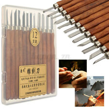 12 Piece Wood Carving Hand Chisel Tool Set Professional Woodworking Gouges