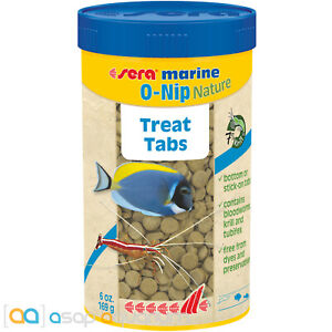 Sera Marine O-Nip Nature 250mL Treat Tabs for Saltwater and Reef Aquarium Fish