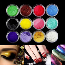1Set 12 Color Mica Pigment Powder For Nail Art Eye Shadow Cosmetics Colorant Dye