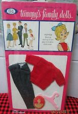 1963 Nip~Rare+Vhtf~Pepper Fashion~After School Fun~9406-0~Red Wool Sweater+Pants