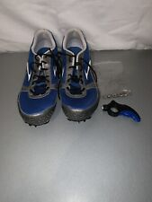 Brooks Surge Track And Field Shoes Size 11.5 With Tool And Spikes Blue